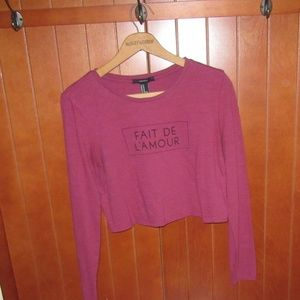 Fait de L'amour long sleeve Crop Top in Mulberry